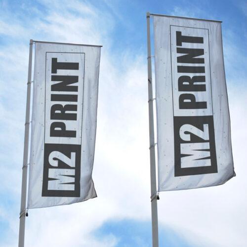 flag reklame reklameflag eget tryk design